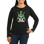 Bazin Family Crest Women's Long Sleeve Dark T-Shir
