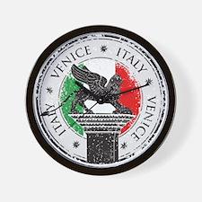 Venice Italy Stamp Wall Clock