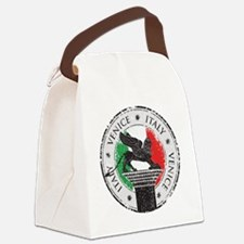 Venice Italy Stamp Canvas Lunch Bag