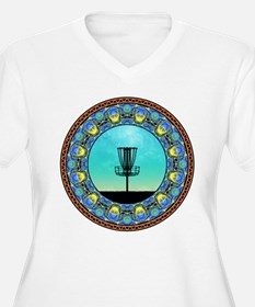 Disc Golf Abstract Basket 5 Plus Size T-Shirt