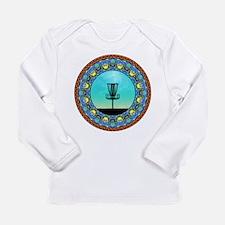 Disc Golf Abstract Basket 5 Long Sleeve T-Shirt