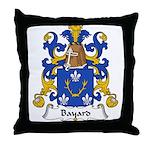 Bayard Family Crest Throw Pillow