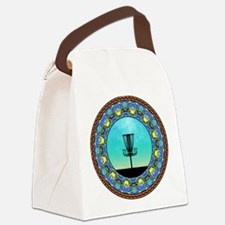 Disc Golf Abstract Basket 5 Canvas Lunch Bag