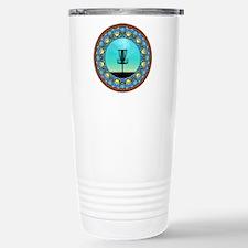 Disc Golf Abstract Basket 5 Travel Mug