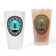 Disc Golf Abstract Basket 5 Drinking Glass
