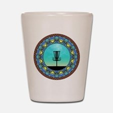 Disc Golf Abstract Basket 5 Shot Glass