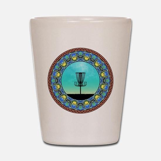Disc Golf Abstract Basket 5 Shot Glass