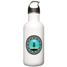 Disc Golf Abstract Basket 5 Water Bottle