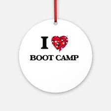 I Love Boot Camp Ornament (Round)
