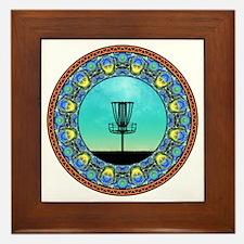 Disc Golf Abstract Basket 5 Framed Tile