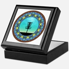 Disc Golf Abstract Basket 5 Keepsake Box