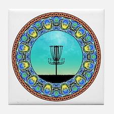 Disc Golf Abstract Basket 5 Tile Coaster