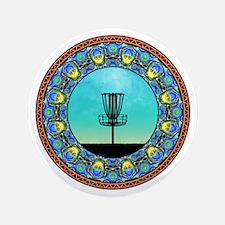 Disc Golf Abstract Basket 5 Button