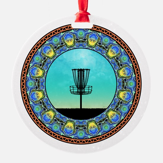 Disc Golf Abstract Basket 5 Ornament