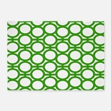 Bright Green Bubble Eyelets 5'x7'Area Rug