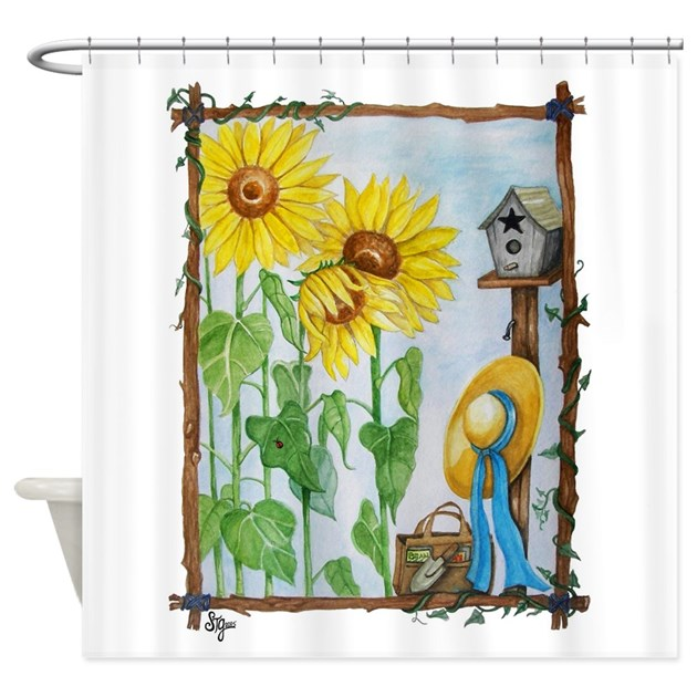Sunflower Garden Shower Curtain By EverIris