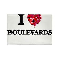 I Love Boulevards Magnets