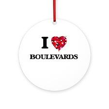 I Love Boulevards Ornament (Round)