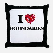 I Love Boundaries Throw Pillow