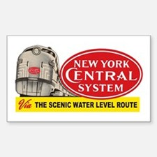 New York Central 2 Rectangle Decal