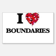I Love Boundaries Decal