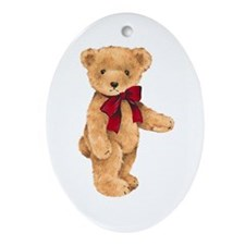 Teddy - My First Love Ornament (Oval)