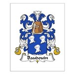 Baudouin Family Crest Small Poster