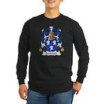 Baudouin Family Crest Long Sleeve Dark T-Shirt