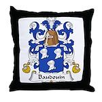 Baudouin Family Crest Throw Pillow