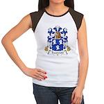 Baudouin Family Crest Women's Cap Sleeve T-Shirt