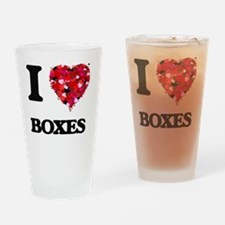 I Love Boxes Drinking Glass