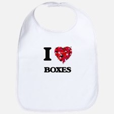 I Love Boxes Bib