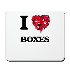 I Love Boxes Mousepad
