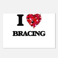 I Love Bracing Postcards (Package of 8)