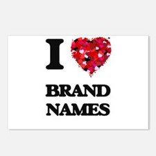 I Love Brand Names Postcards (Package of 8)