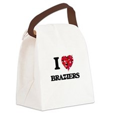 I Love Braziers Canvas Lunch Bag