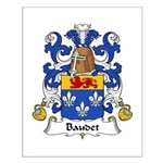 Baudet Family Crest Small Poster