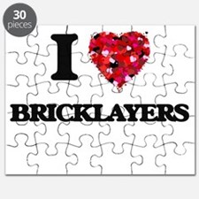 I Love Bricklayers Puzzle