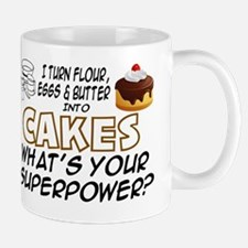 BAKING - I TURN FLOUR, EGGS AND BUTTER  Small Mugs