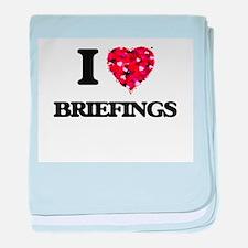 I Love Briefings baby blanket