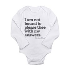 Funny Theatre quote Long Sleeve Infant Bodysuit