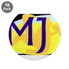 """MJ (DARK) 3.5"""" Button (10 pack)"""