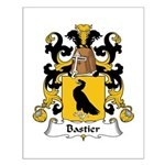 Bastier Family Crest Small Poster