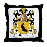 Bastier Family Crest Throw Pillow