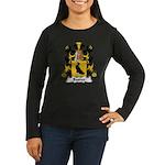 Bastier Family Crest Women's Long Sleeve Dark T-Sh