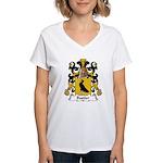 Bastier Family Crest Women's V-Neck T-Shirt