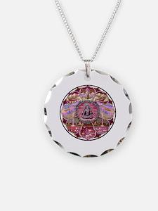 Tara Heaven Mandala Necklace Circle Charm