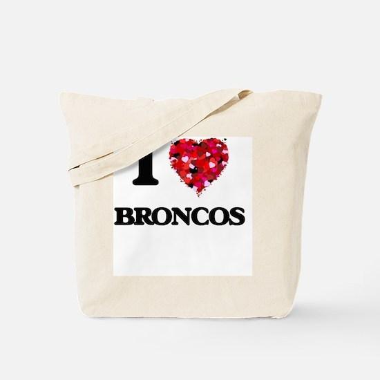 I Love Broncos Tote Bag