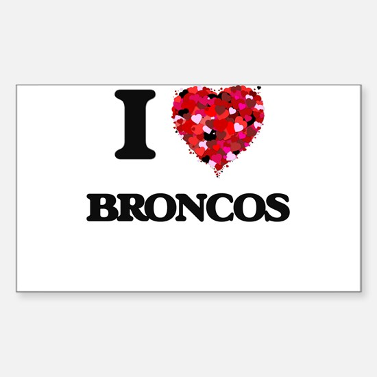 I Love Broncos Decal
