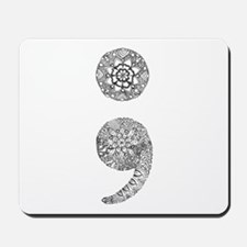 Patterned Semicolon Mousepad